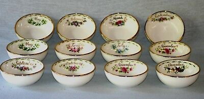 Royal Albert ' Flower Of The Month Series ' Bowls - English Bone China