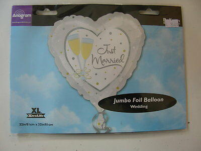 Palloncino Super Shape Just Married Cuore