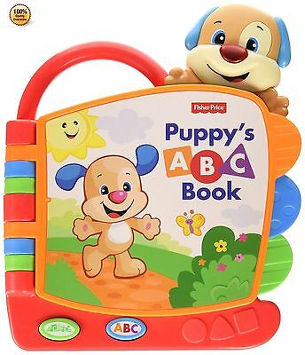 Fisher Price Puppy ABC Book Baby Toddler Infant Musical Tool Kids Learning Toy