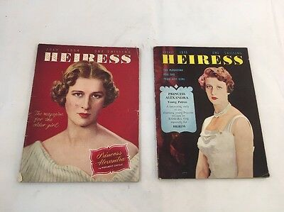 HEIRESS MAGAZINE JULY 1954 AUGUST 1955 The MAGAZINE For The Teen - AGE Girl !