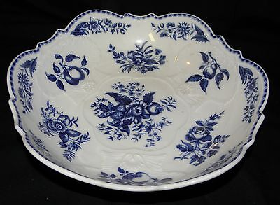 "MOTTAHEDEH~ Winterthur Reproduction Portugal Blue & White Bowl 3 "" X 10 1/4"""