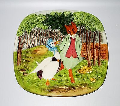 Beswick Beatrix Potter Plaque 1st Edition 1979 Jemima Puddle-Duck Foxy England