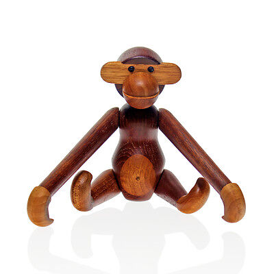 Kay Bojesen - Early Original Teak & Limba Wood Monkey - 1960s Danish Signed