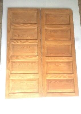 Two Vintage Oak Doors Panels Repurpose