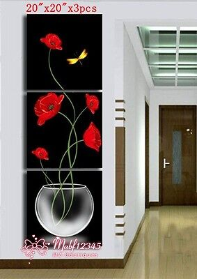 YH296 3PCS Hand painted Oil Canvas Wall Art Home Decor Modern abstract NO Frame