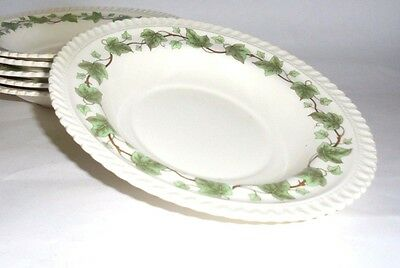 Ivy by Harker Royal Gadroon 6 Rimmed Soup Bowls