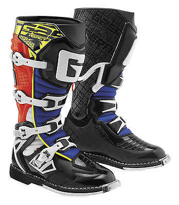Gaerne G-React Leather Motocross MX Boots - 2016/17 [Red/Yellow/Blue, Size 11]