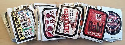 300 Vintage Topps Wacky Packages & Ugly Stickers Card Lot Ajerx Fright Clunky