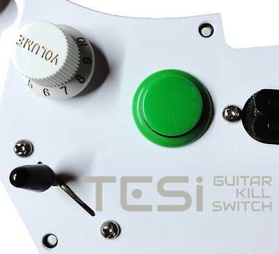 Translucent Green Tesi DITO XL Snap In 30MM Arcade Button Guitar Kill Switch