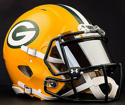 37d0a0cc4dd    CUSTOM    GREEN BAY PACKERS NFL Riddell Speed AUTHENTIC Football Helmet
