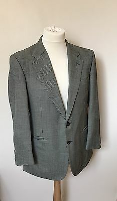 "Vintage Burberry Houndstooth Check Blazer Jacket - 38"" Chest"