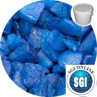 BULK BUY Premium Ultra Blue Crystal Chippings 20 Kilo | memorial | grave