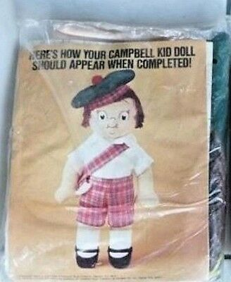 1982 Campbell Soup Kid Doll Kit Sealed Campbell's Needlework Kit