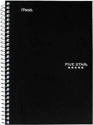 Five Star Wirebound Notebook, College Rule 6 X 9 1/2, White, 2 Subject, 100