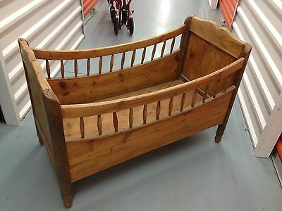 Vintage Antique Baby Crib--Wood Bed