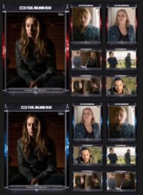 Fear 306 Set-Red+Blue-14 Cards-Alicia+ Topps Fear The Walking Dead Card Trader