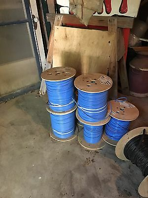 CommScope RG6 Plenum Coax Cable 1000ft Blue - 18 AWG - Solid Copper