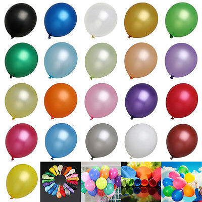100 LARGE PLAIN BALONS BALLONS helium BALLOONS for  Birthday &Wedding  party