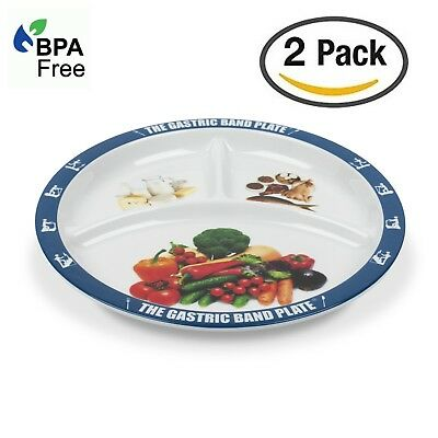 2 PACK World Slimming Gastric Band Plate Portion Control Weight Loss Diet Plate