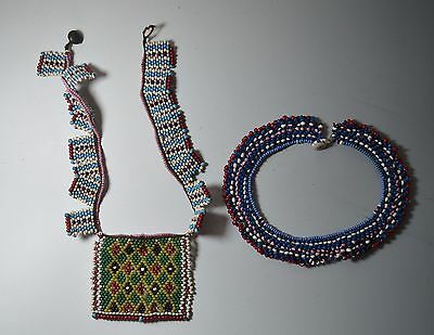 African Tribal Art Good Old Zulu  Necklaces