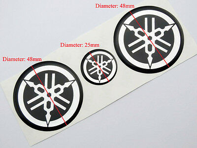 Tank Fairing Decal Sticker adhesive for Yamaha YZF R1 R6 Silicone 3D Gel Emblems