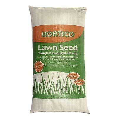 BULK 20kg Hortico Grass Lawn Seed Tough & Drought Tolerant 600m2 Quick Coverage