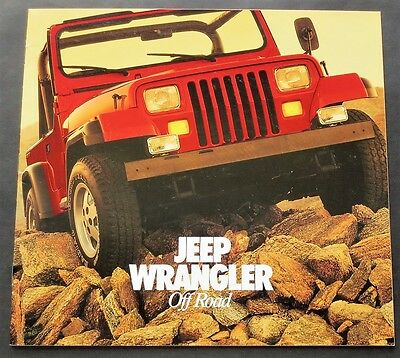 """1986 Jeep Wrangler Over Sized Sales Brochure ~ 16 Pages ~ 10.5"""" X 11"""" ~Jw86"""