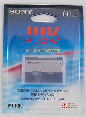 Brand New Genuine Sony MICRO MV Tape MGR60 60 Min, Japan Version, Made In Japan