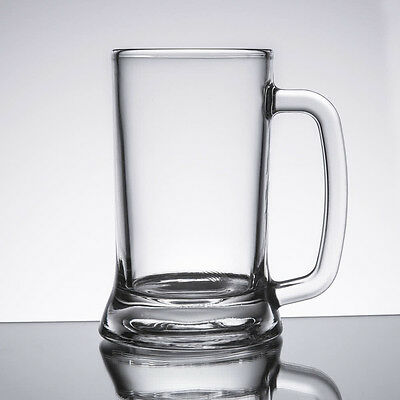 (12-Pack) 16 oz. Restaurant Bar Clear Round Glass Beer Mugs