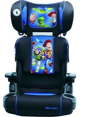 Toy Story Buzz Lightyear & Woody Height Adjustable Car Booster Seat Cup Holders
