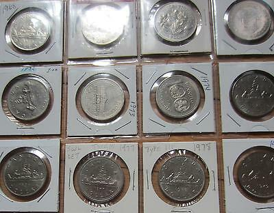 Complete Set of Canada Nickel Dollar Coins. (1968-1986)
