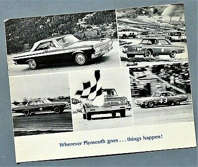 Original 1965 Plymouth Racing And Performance Brochure~Richard Petty~ 8 Pages~P2