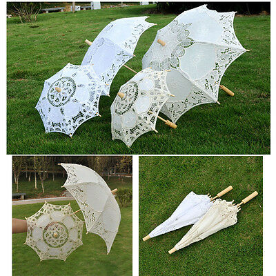 Women's Romantic  Vintage Handmade Parasol Umbrella Wedding Bridal Decoration
