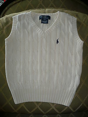Boys Ralph Lauren POLO Sweater Vest ~ 100% Cotton         Sz. 2 / 2T