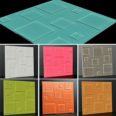 3D Square Wall Panel Wallpaper Stickers Self Adhesive Home Living Room 30x30cm