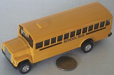 """Diecast Yellow School Bus 5"""" New Condition with Pull Action Motor"""