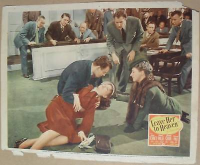 LEAVE HER to HEAVEN ~ 1945 lobby card/poster ~ GENE TIERNEY