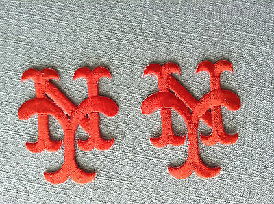 Two (2) New York METS Iron On Patches Embroidered Logo Emblem Jersey Crest MLB