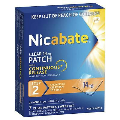 Nicabate CQ Clear 14mg Patches 7 Smokes Of Less Than 10 A Day - Step 2