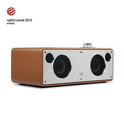 GGMM M3 Retro Wi-Fi Bluetooth Wireless Leather Speaker for Music Streaming | ...