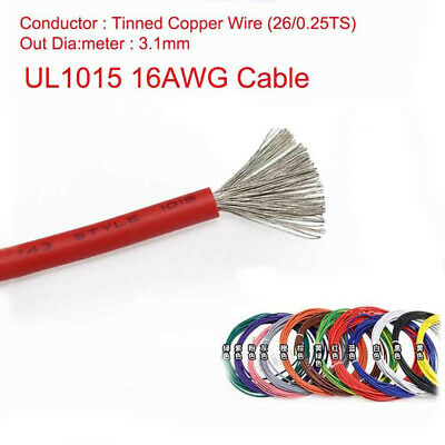 16AWG Stranded UL1015 Cable Auto Car Electrical Equipment Wire 600V 105°C