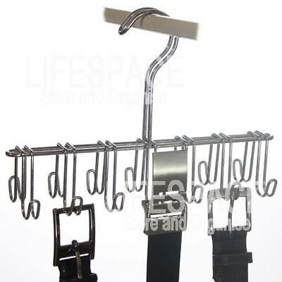 NEW Strong 14 Belt Hanger Rack Hook for Wardrobe Hanging
