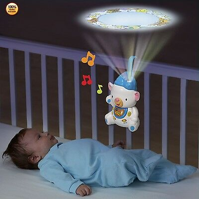 VTech Projector Baby Toddler Infant Crib Toy Musical Instrument Tool Kids Gift