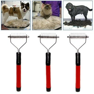 Large Dog Cat Pet Hair Fur Shedding Trimmer Grooming Comb Brush Cleaning Tool