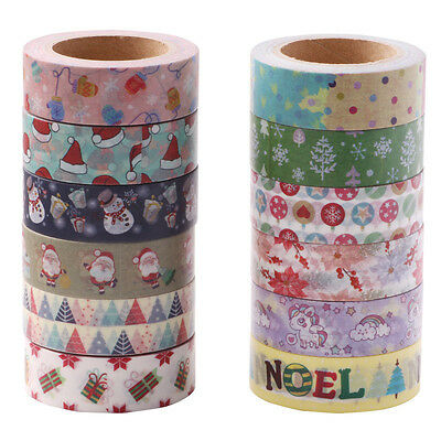 10M Roll DIY Cartoon Washi Masking Craft Tape Paper Sticker Scrapbook Decorative