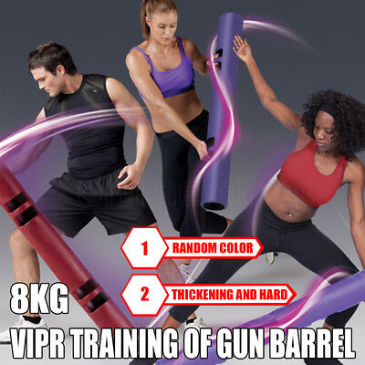 VIPR 8KG Functional Training Rubber Drum Weight Fitness Tube Training Barrel