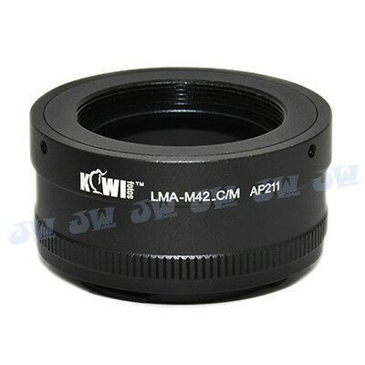 M42 Screw Thread Lens To Canon Eos Ef M Mirrorless Camera Mount Adapter