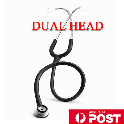 Professional Stethoscope Dual Head For Adult Black