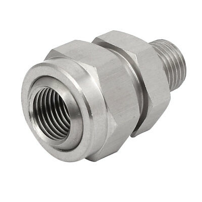 1/4BSP Female Male Thread 304 Stainless Steel Nozzle Adapter Universal Joint