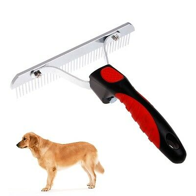 Professional Dog Pet Cat Hair Fur Shedding Trimmer Grooming Rake Comb Brush Tool